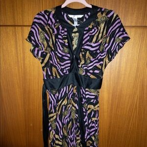 Diane von Furstenberg 100% Silk Wrap Dress - sz 12